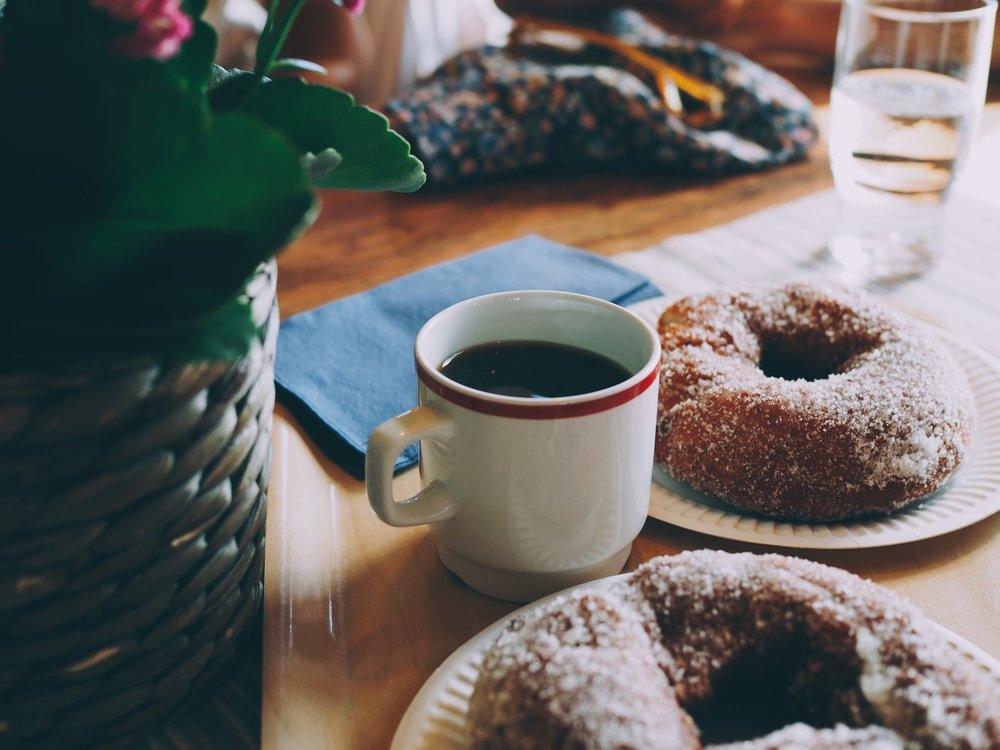Coffee &doughnuts at  Kaunispään Huippu