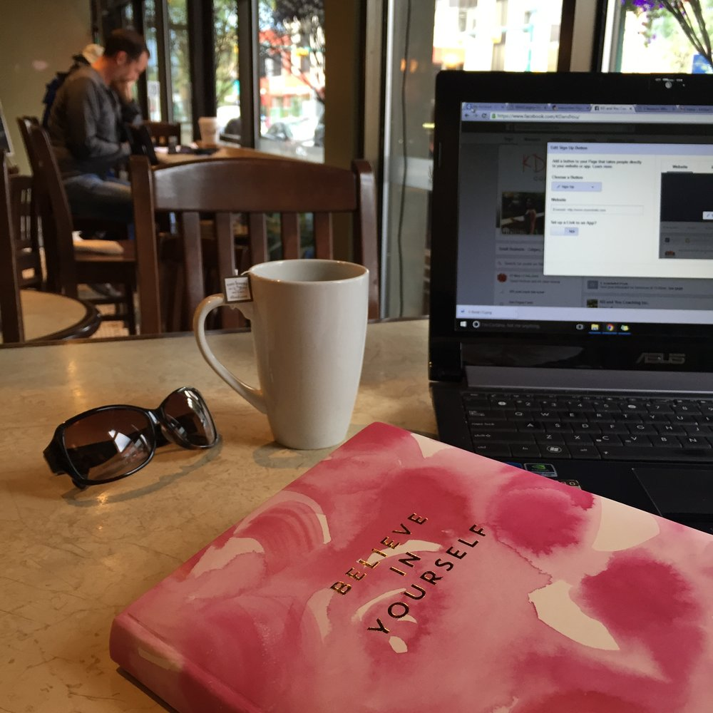 Being a solo entrepreneur means a lot  of solo coffee work dates.