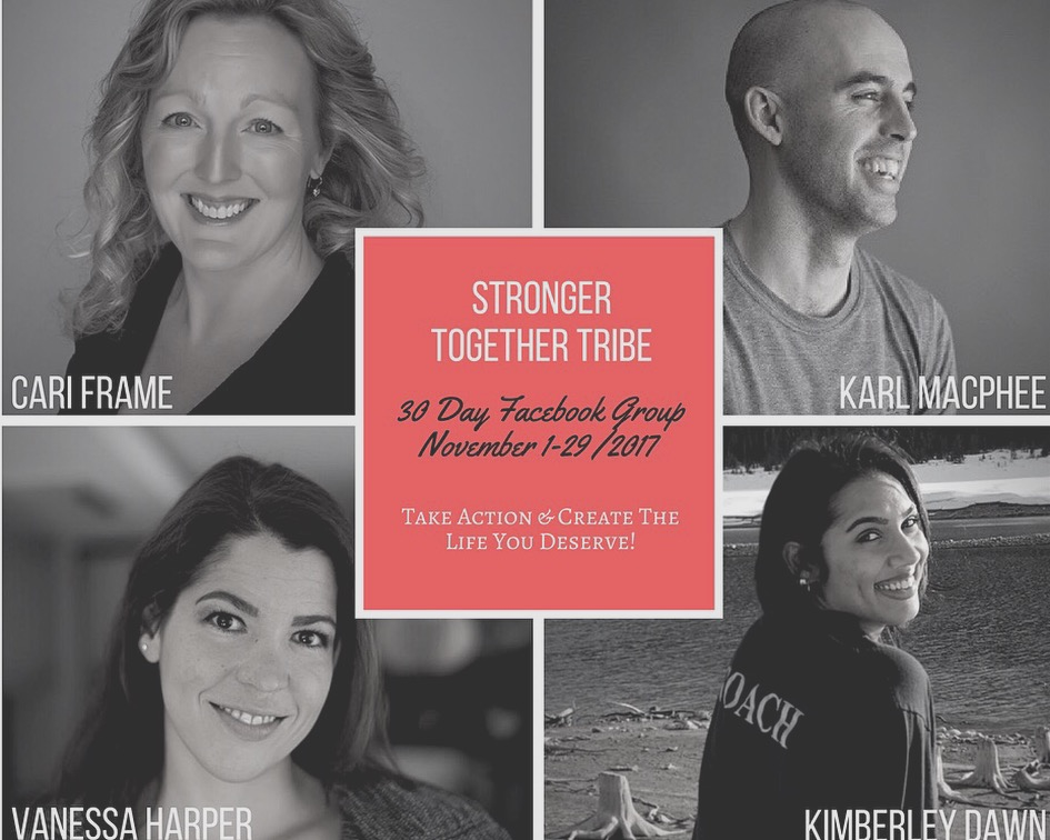 My latest example of courage:  Co-leading the    Stronger Together Tribe