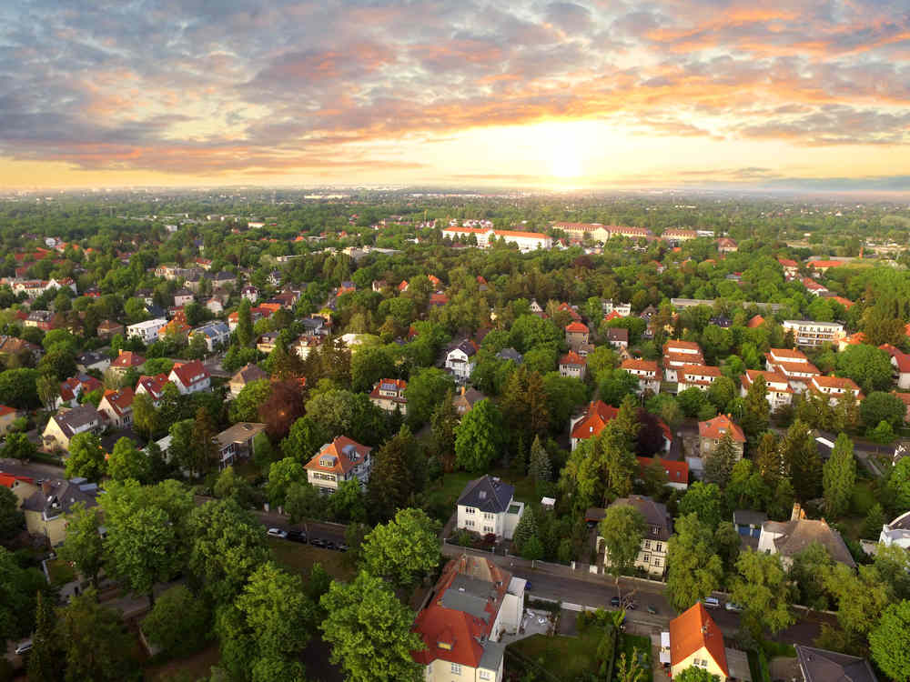 sky view of leafy suburb with low sun.jpg