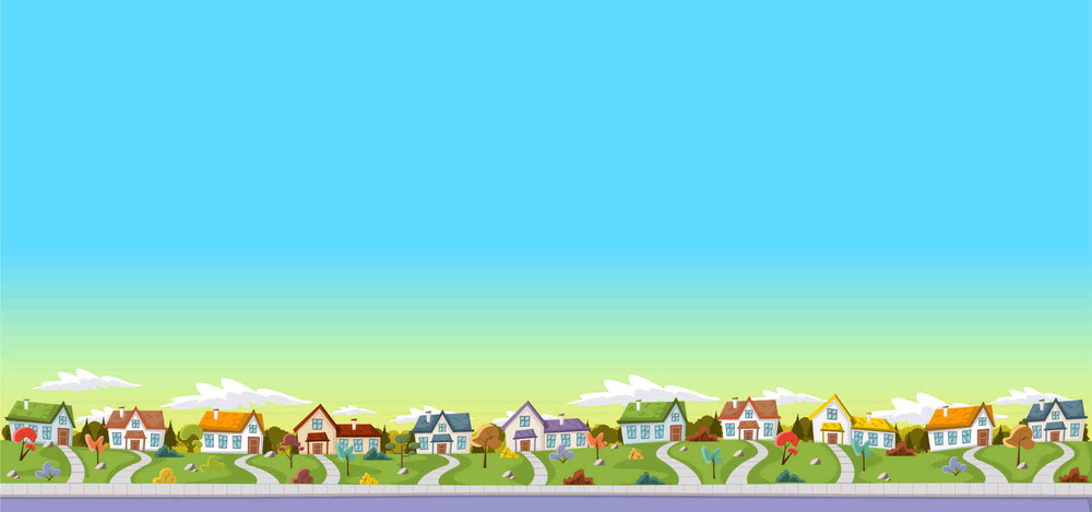 illustration of a row of suburban homes