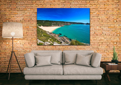 porthcurno beach canvas print cornwall beautifully handcrafted