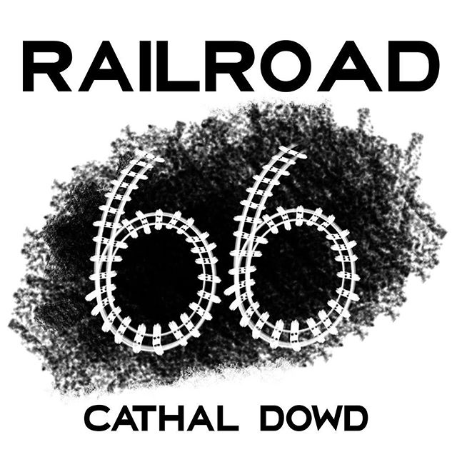 """My second album """"Railroad 66"""" has a cover! Not long until it goes out into the wild 😬😬"""