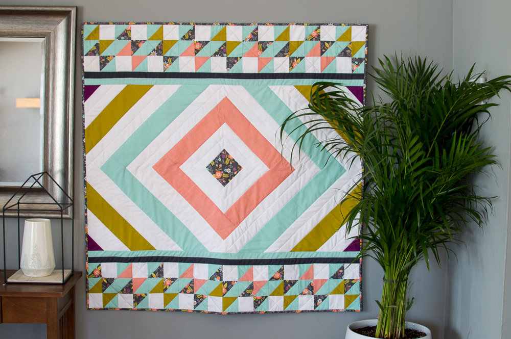 Monarch Flight Quilt by OhSew Brooke (made by me!)