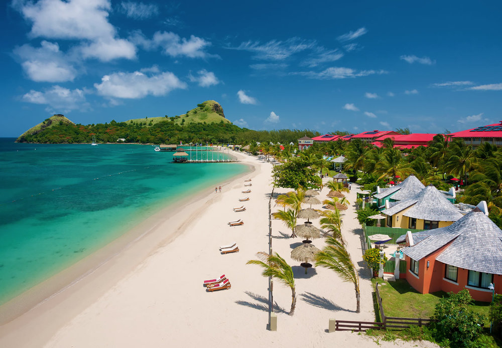 St. Lucia - Ideally located on its very own peninsula, Sandals Grande St. Lucian is often described as the