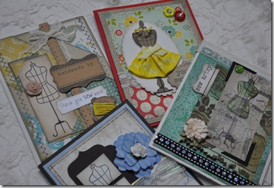 Sewing theme Cards