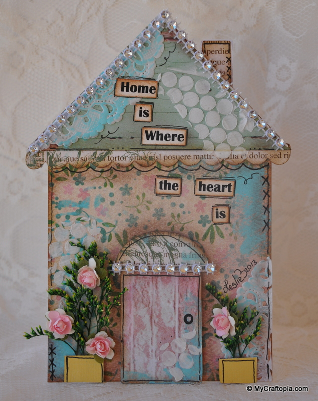 Mixed Media House Card