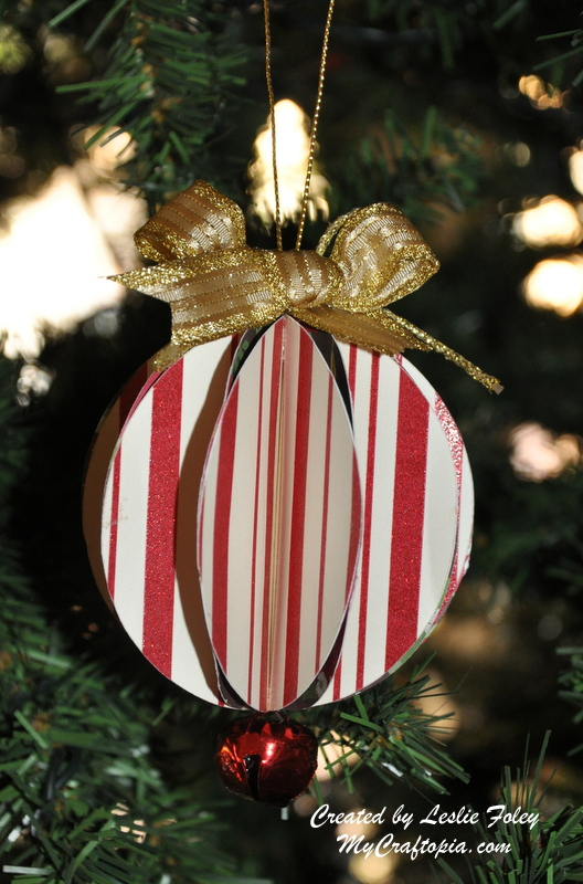 Peppermint Stripe Ball Ornament