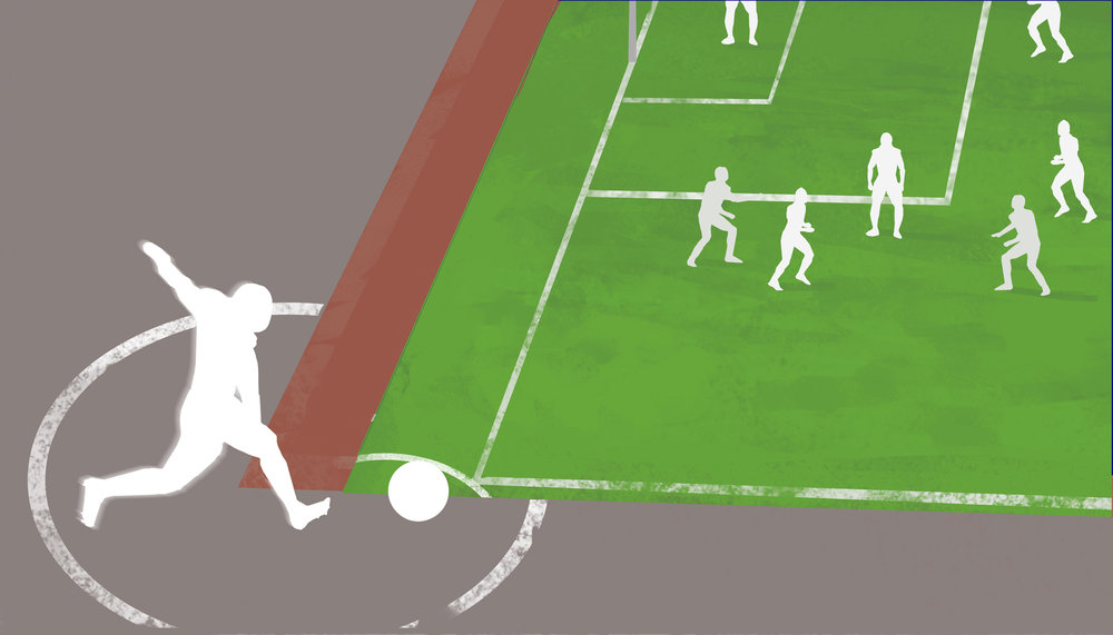 Top Corner Kick must be performed within the marked region