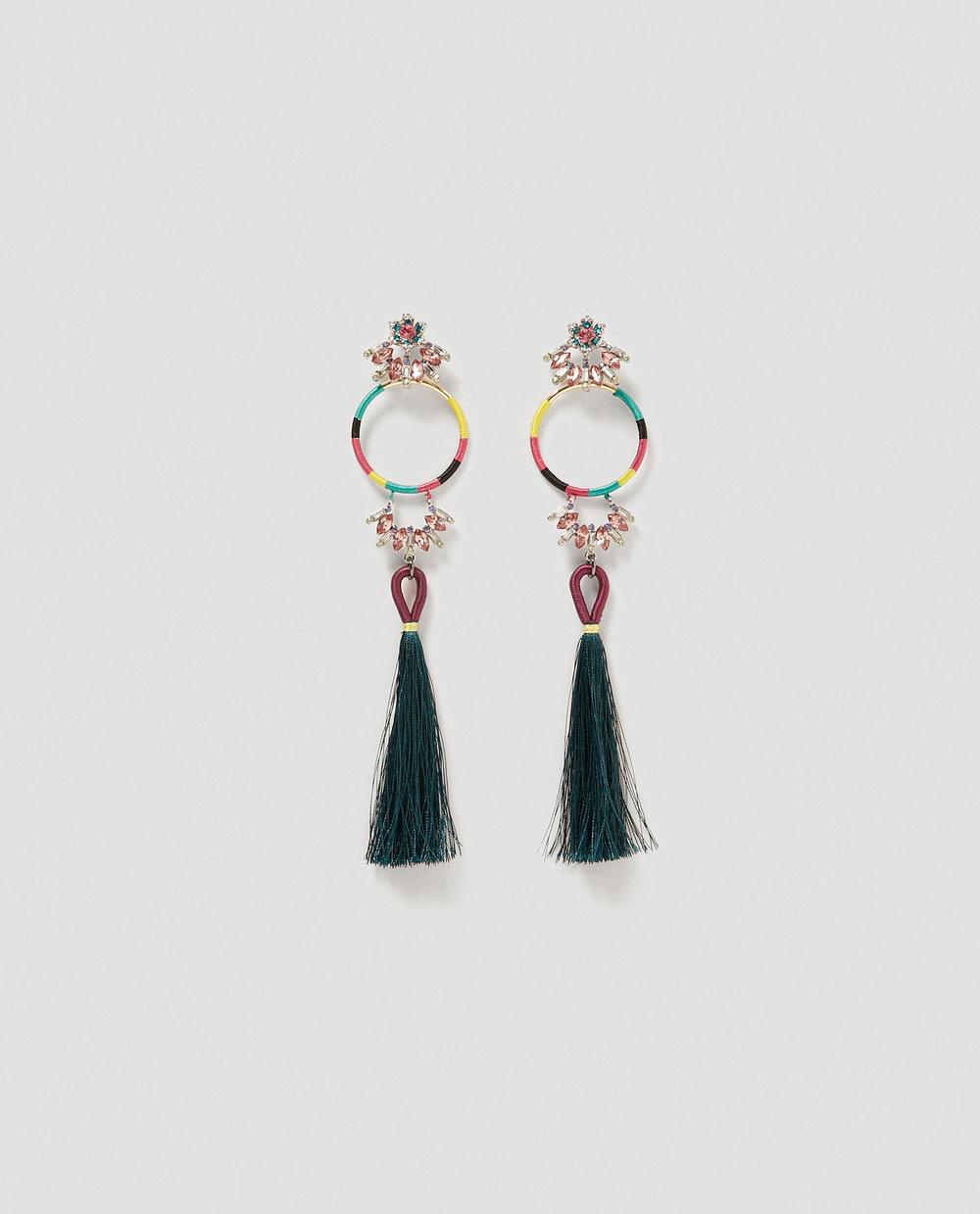 zara tassle earring - £12.99