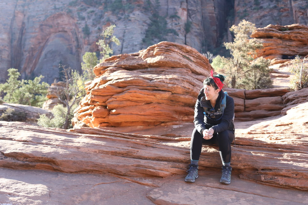 Melissa at Canyon Overlook