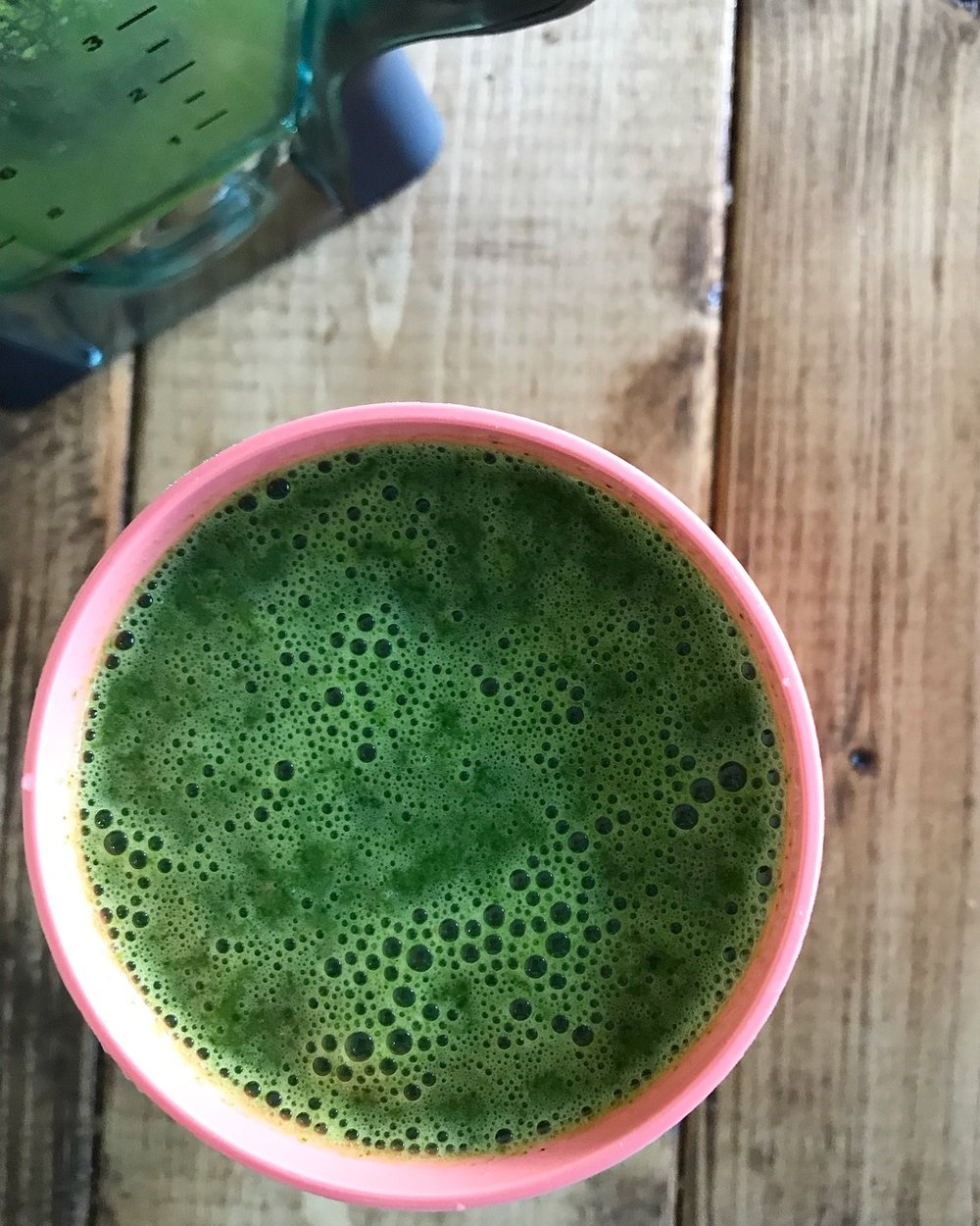 Kale, spinach, and avocado
