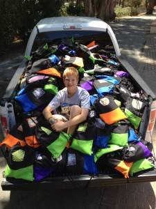 ZACH WITH BACKPACKS READY TO DELIVER