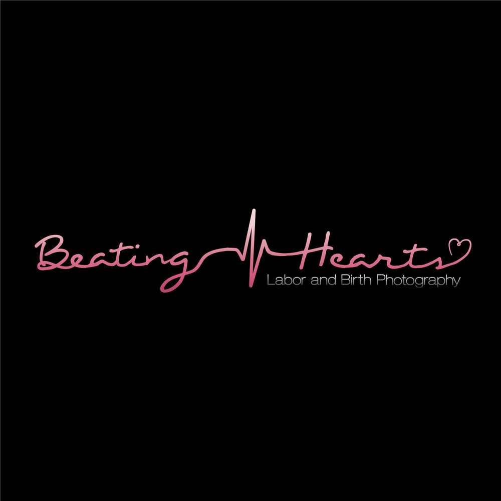 """Beating Hearts Labor and Birth Photography"" Photography Business Logo"