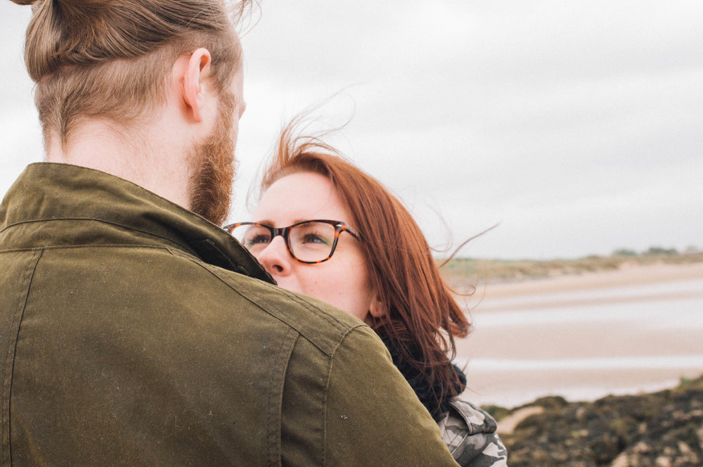 Loving gaze, New Brighton beach, wirral