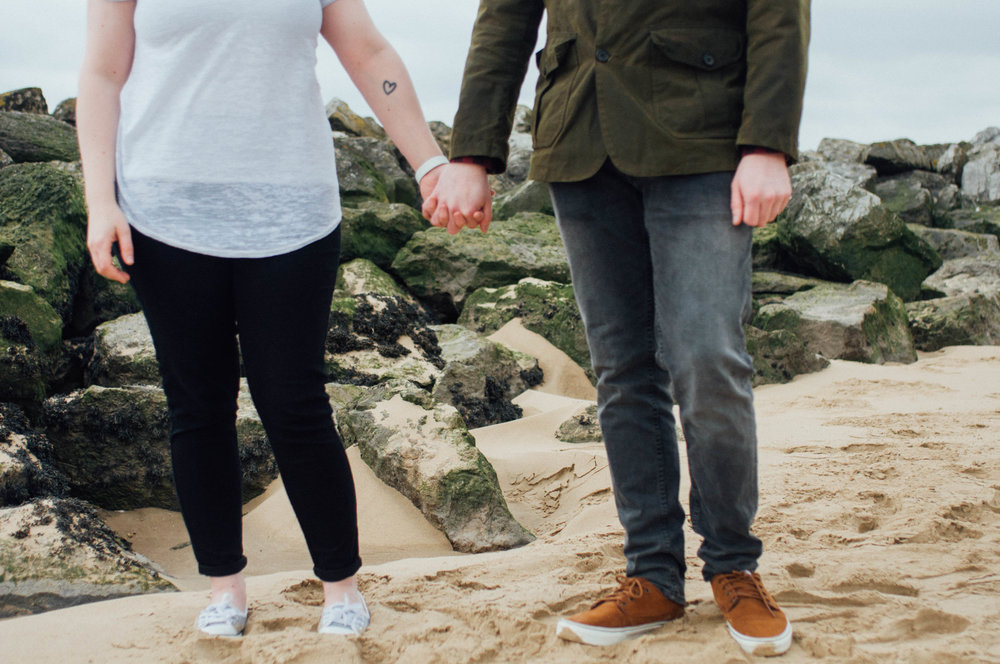 Holding Hands, beach wirral