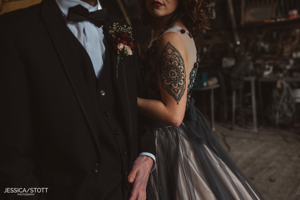 close up bride tattoos