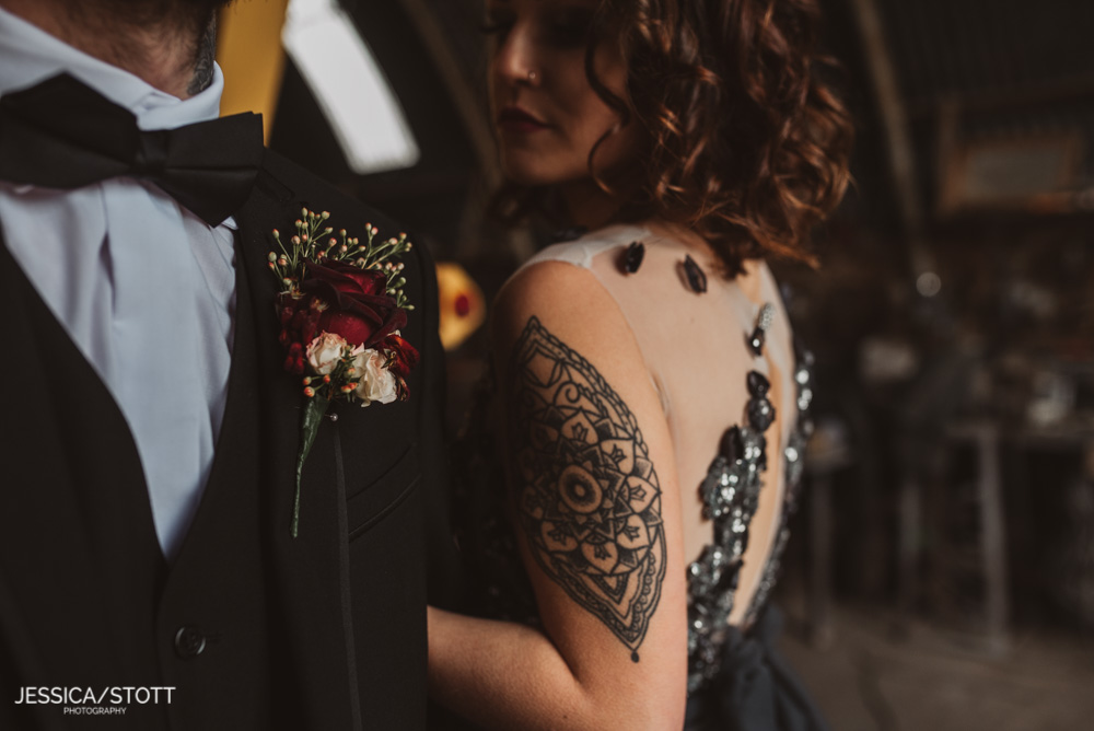 close up brides tattoos