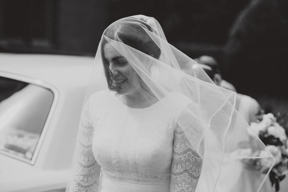black and white bride natural smile