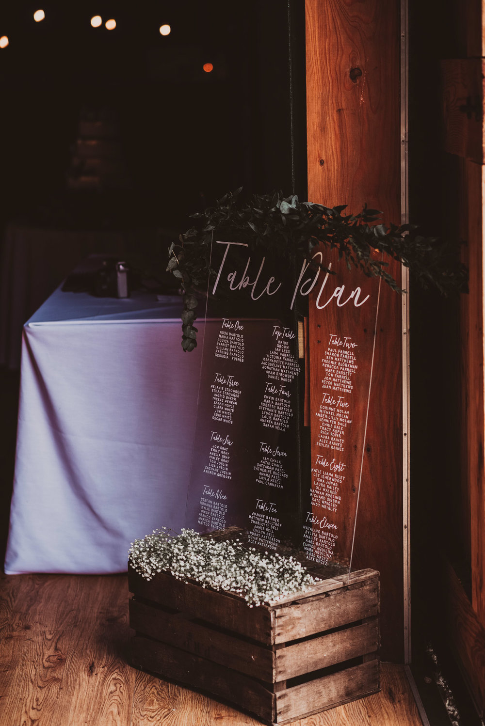 wedding decoration in the barn