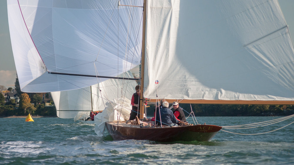 R-Class Boats heading downwind