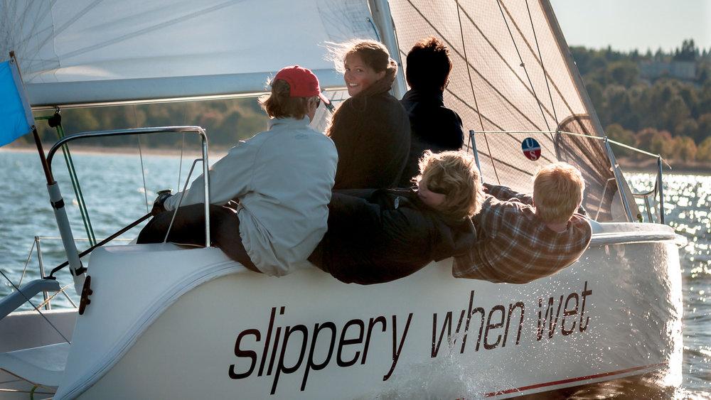 Sailors enjoying a glorious day