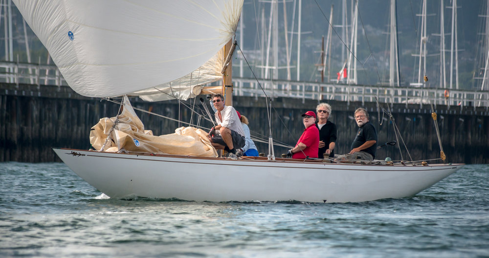 6 Metre Saskia sailing downwind