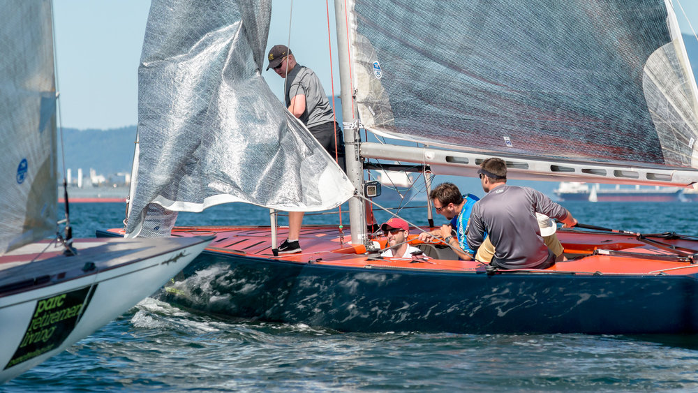 6 Metre yacht tacking