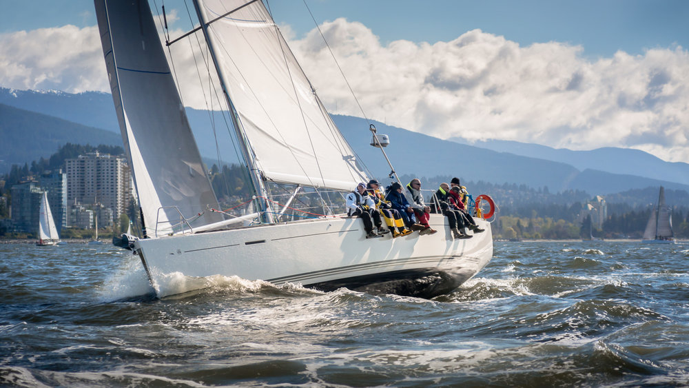 Alegria charges upwind