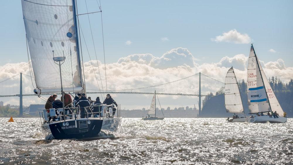 Sailboat and Lion's Gate Bridge