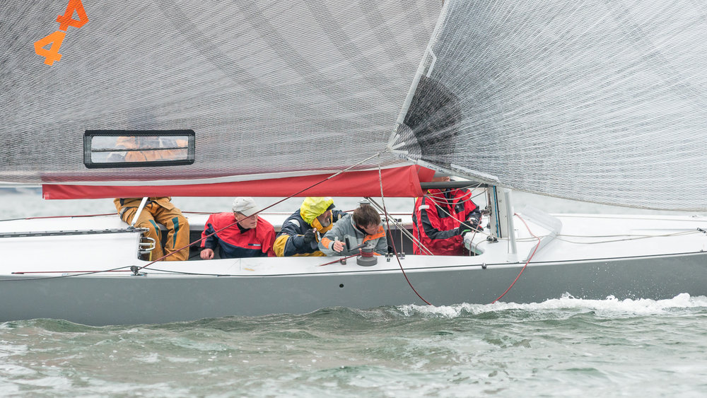 Close up of 6 Metre crew