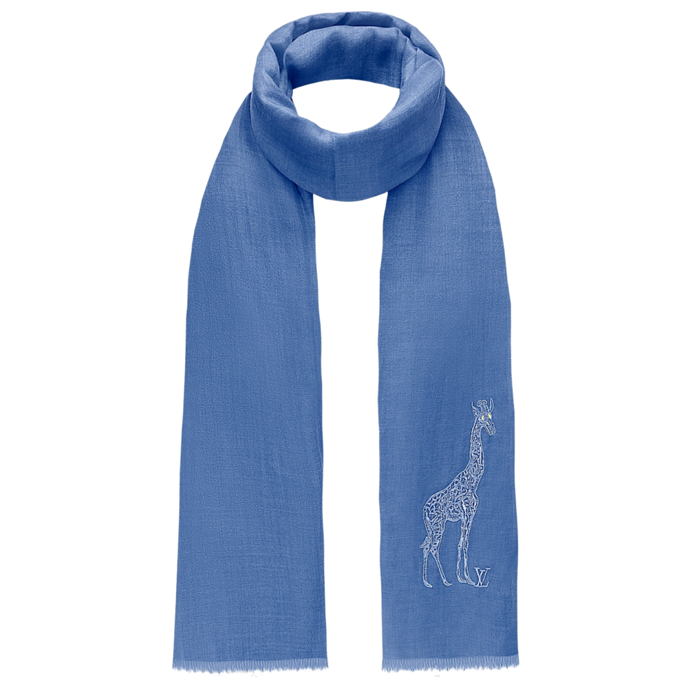 CHAPMAN EMBROIDED STOLE - €615 $900MP2039GIRAFFE