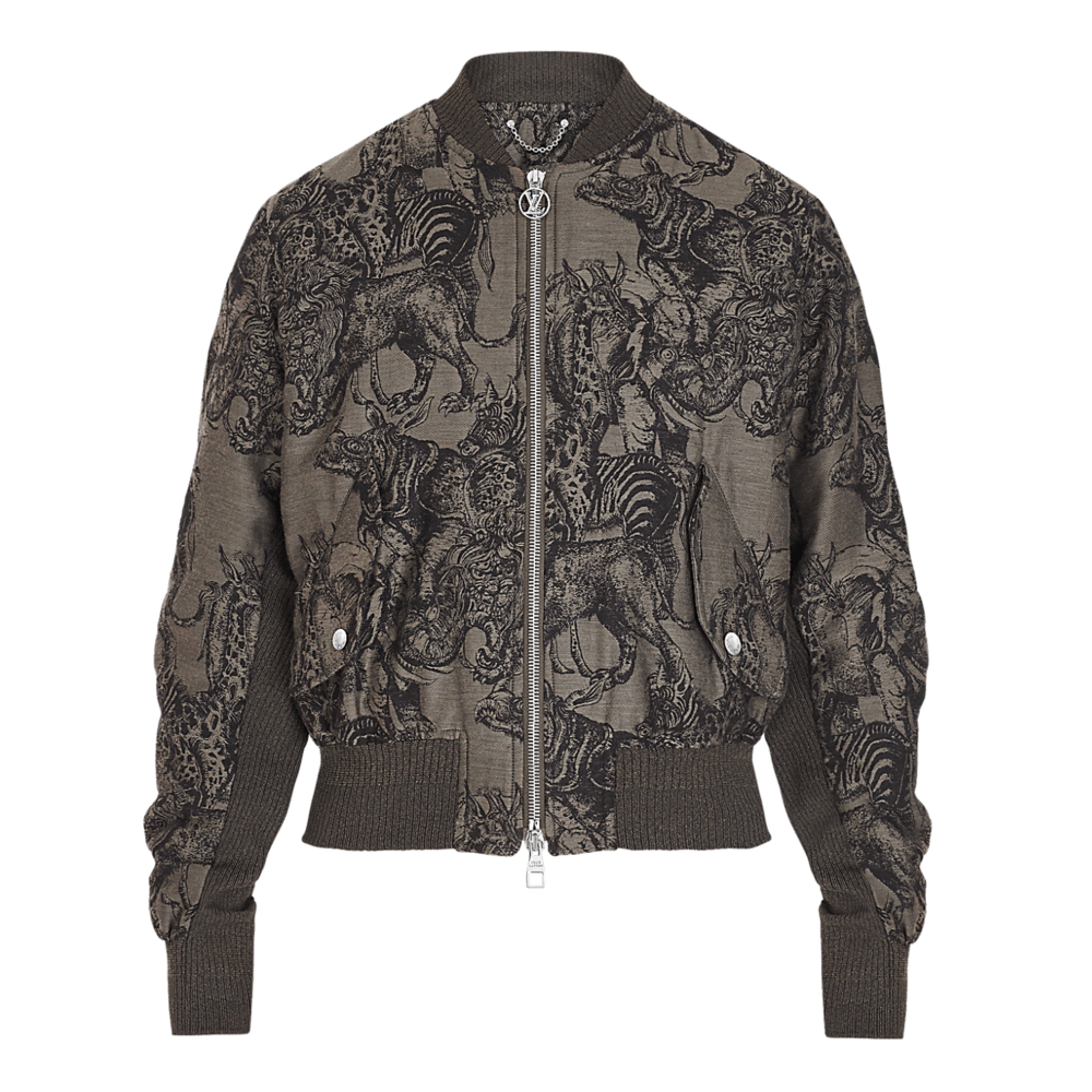 ALL OVER ANIMALS BOMBER - €2700 $35501A2Q5BMARRON CHOCOLAT