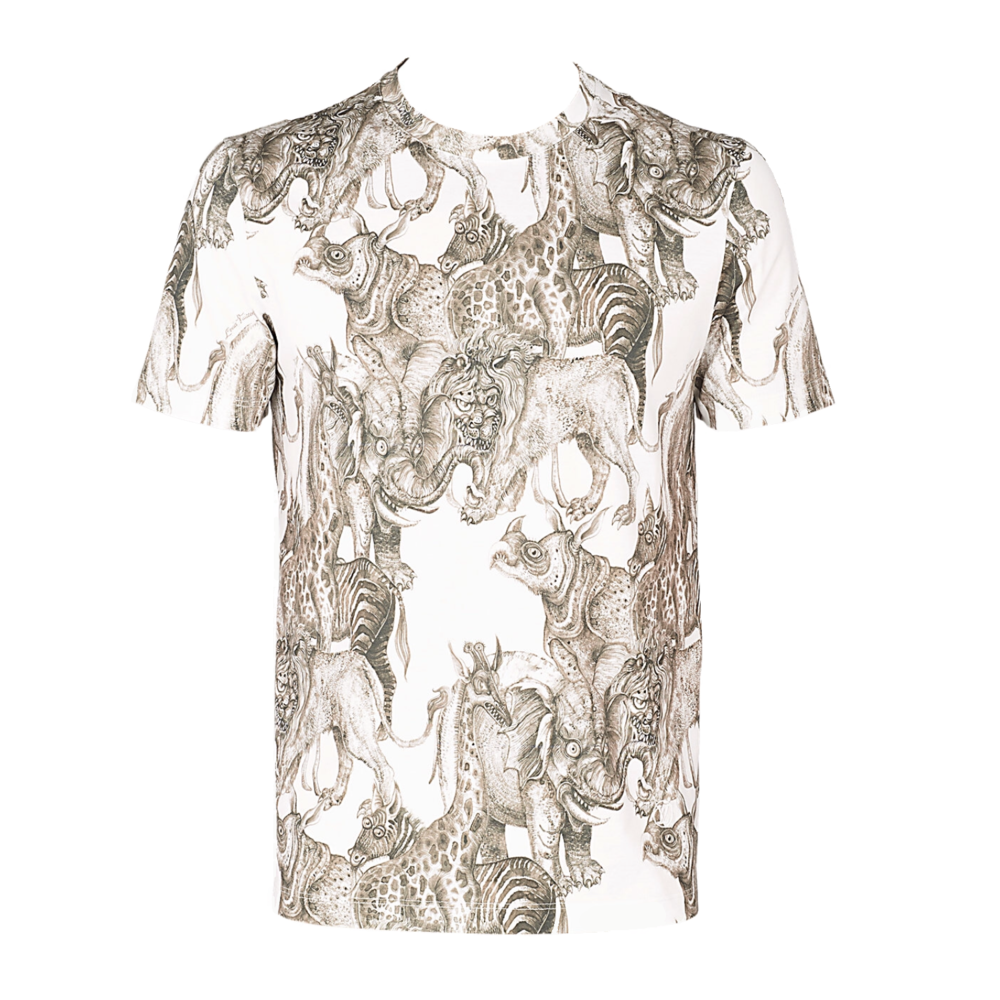 ALLOVER ANIMALS SHIRT - €3901A2I38BLANC LAIT