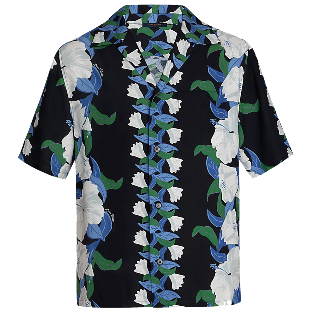 LILLIES PRINT SHIRT - €890 $11901A40Y0DENIM NOIR
