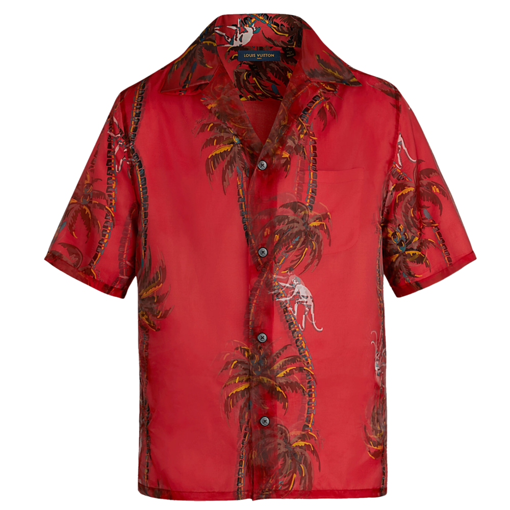 PALM TREE DOUBLE LAYER SHIRT - €1490 $19901A410MROUGE