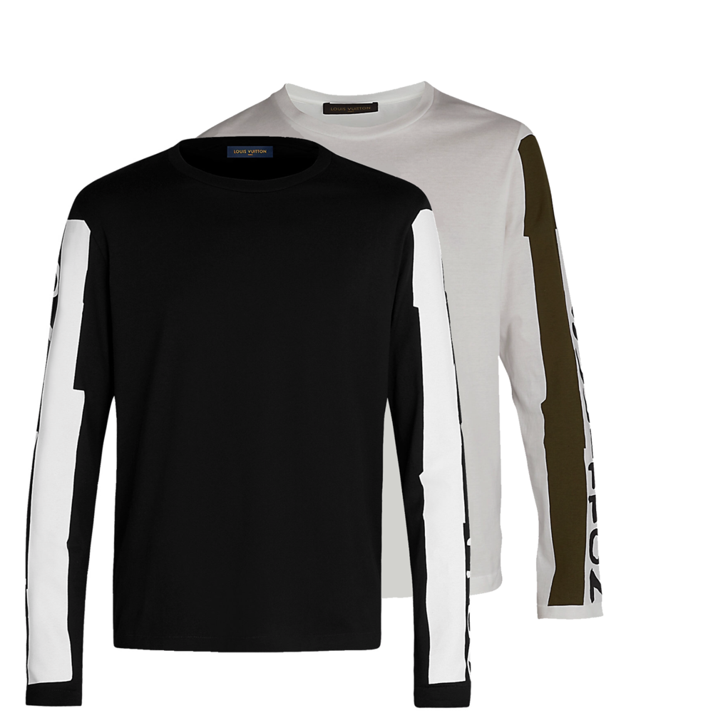HAND PAINTED LOGO LONG SLEEVE - €490 $6551a40tq / 1a40tyBLANC / OLIVE