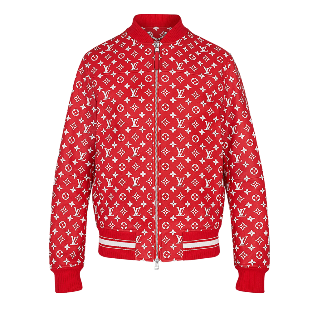 leather blouson  - €3500 $43501A3FBFMONOGRAM RED