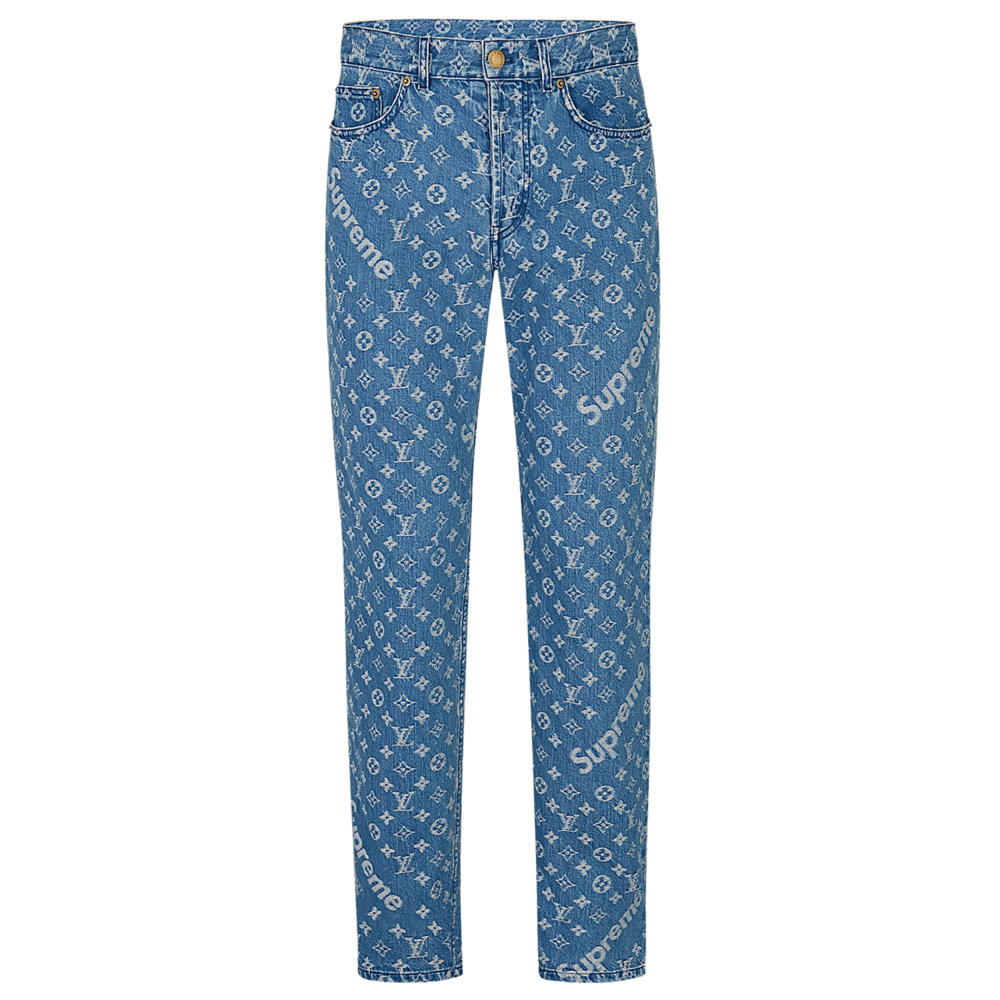 REGULAR JEANS - €690 $8601A3FA0MONOGRAM DENIM BLUE