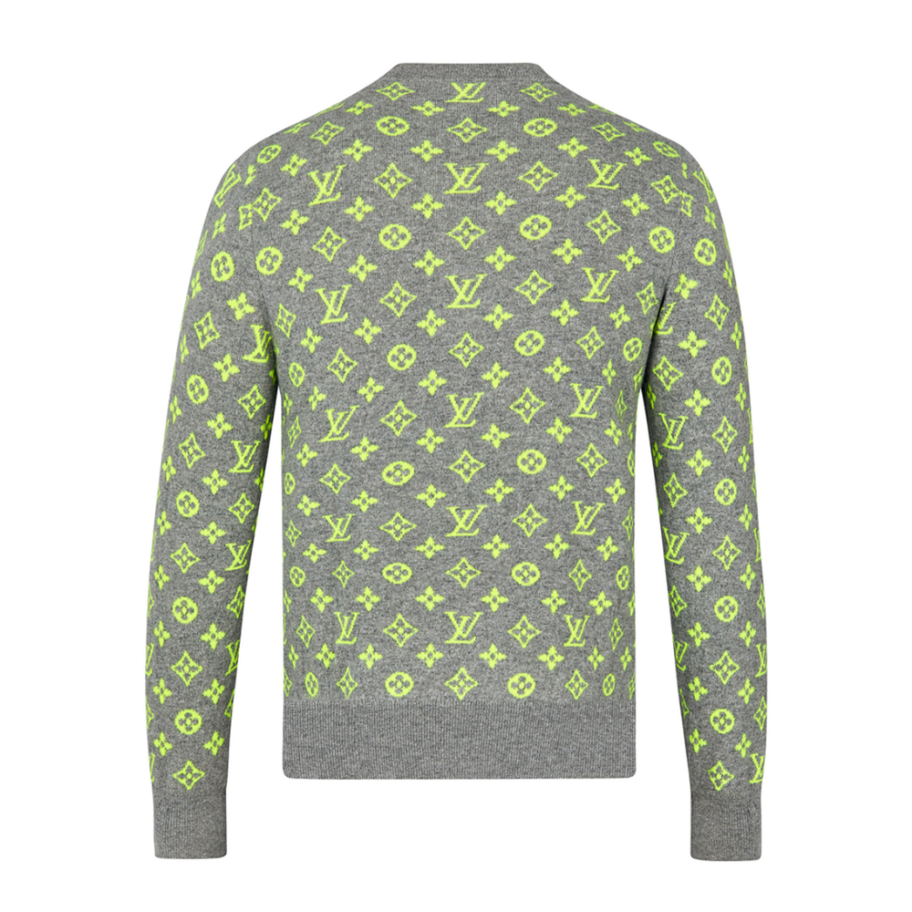 NEON MONOGRAM BACK SWEATER - €850 $12201A46SNNEON YELLOW