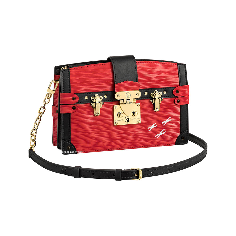 TRUNK CLUTCH - €2400 $3300M51697EPI ROUGE