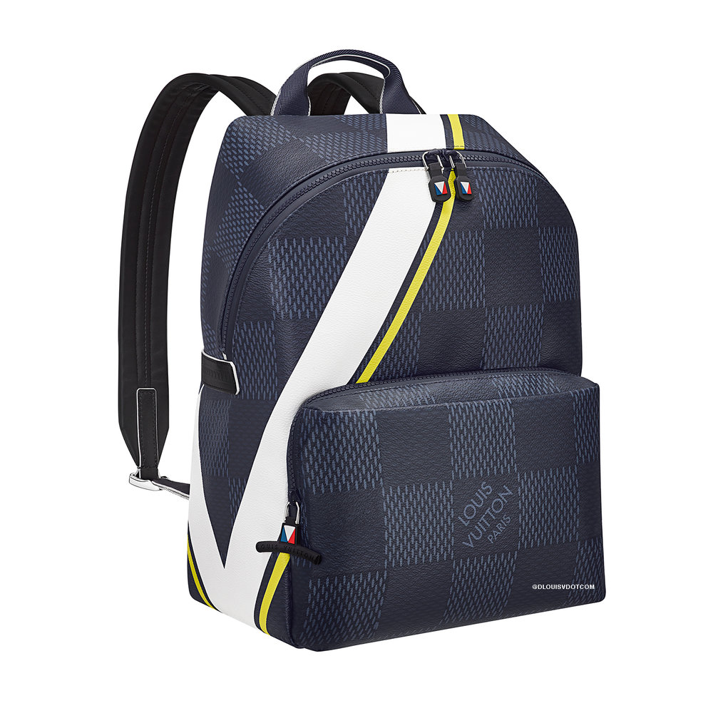 APOLLO BACKPACK - €1750 $N44005DAMIER LATITUDE JAUNE