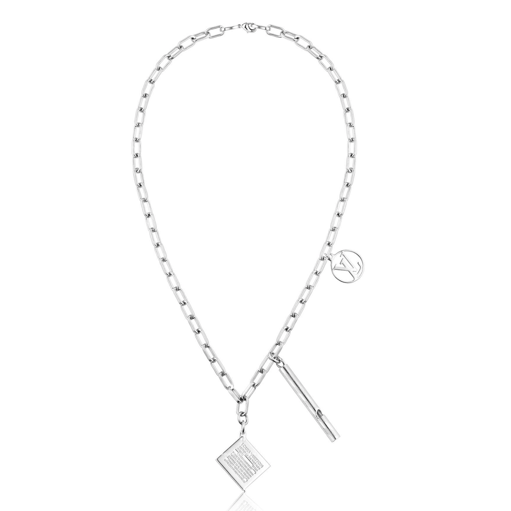 CHARMS WHISTLE & STAMP BOX NECKLACE - €550 $MP1797PALLADIUM