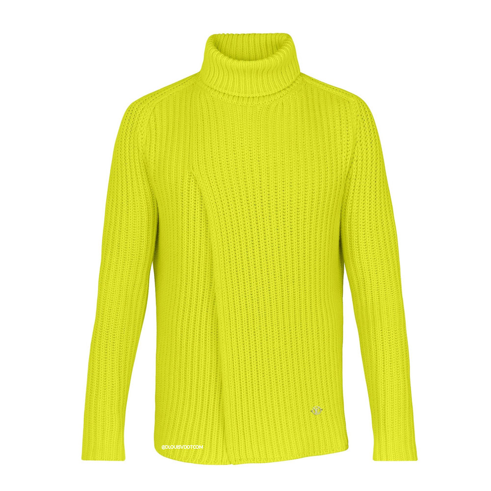 CHUNKY RIB ROLL NECK - €1500 $21601A4JECNEON JAUNE