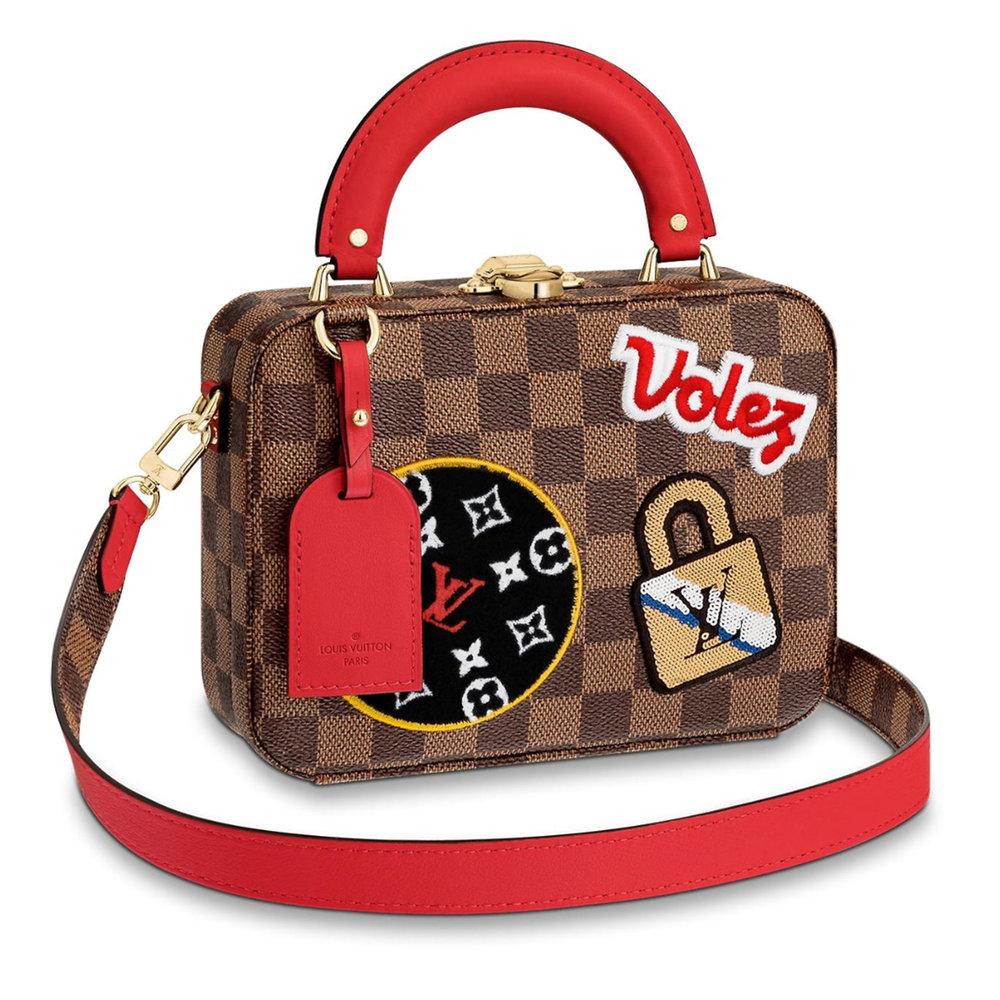 VANITY BAG - €2650 $3550N40048DAMIER EBENE PATCHES