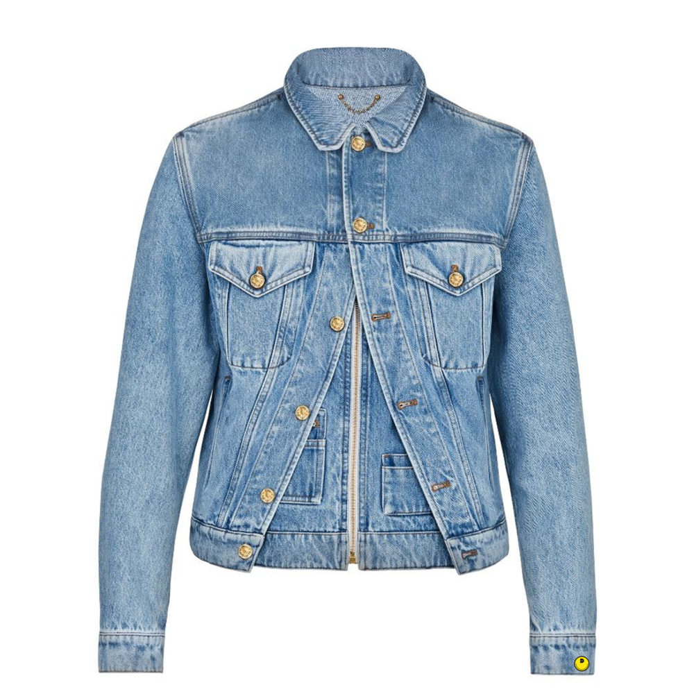 xix denim jacket - €1700 $-BLEU DENIM