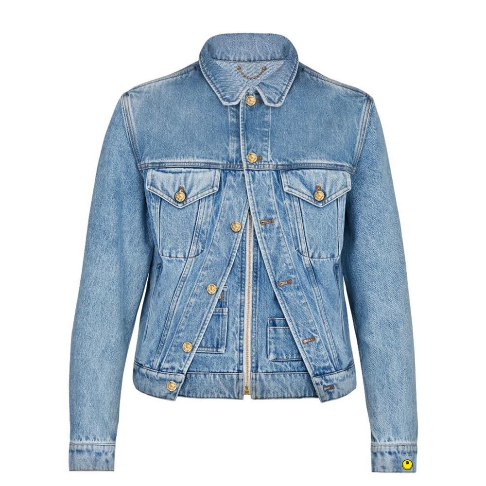 xix denim jacket - €1700 $-BLEU DENIM