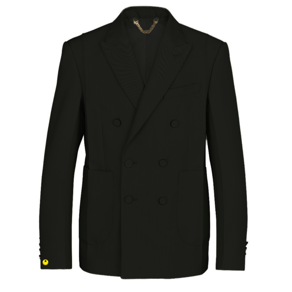 double breasted crease jacket - €2300 $-noir