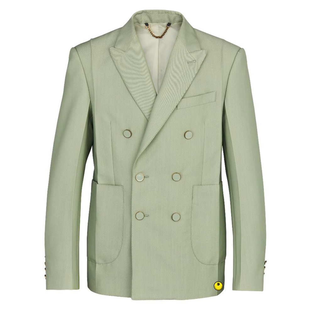 double breasted jacket - €2300 $-VERT CENDRÉ