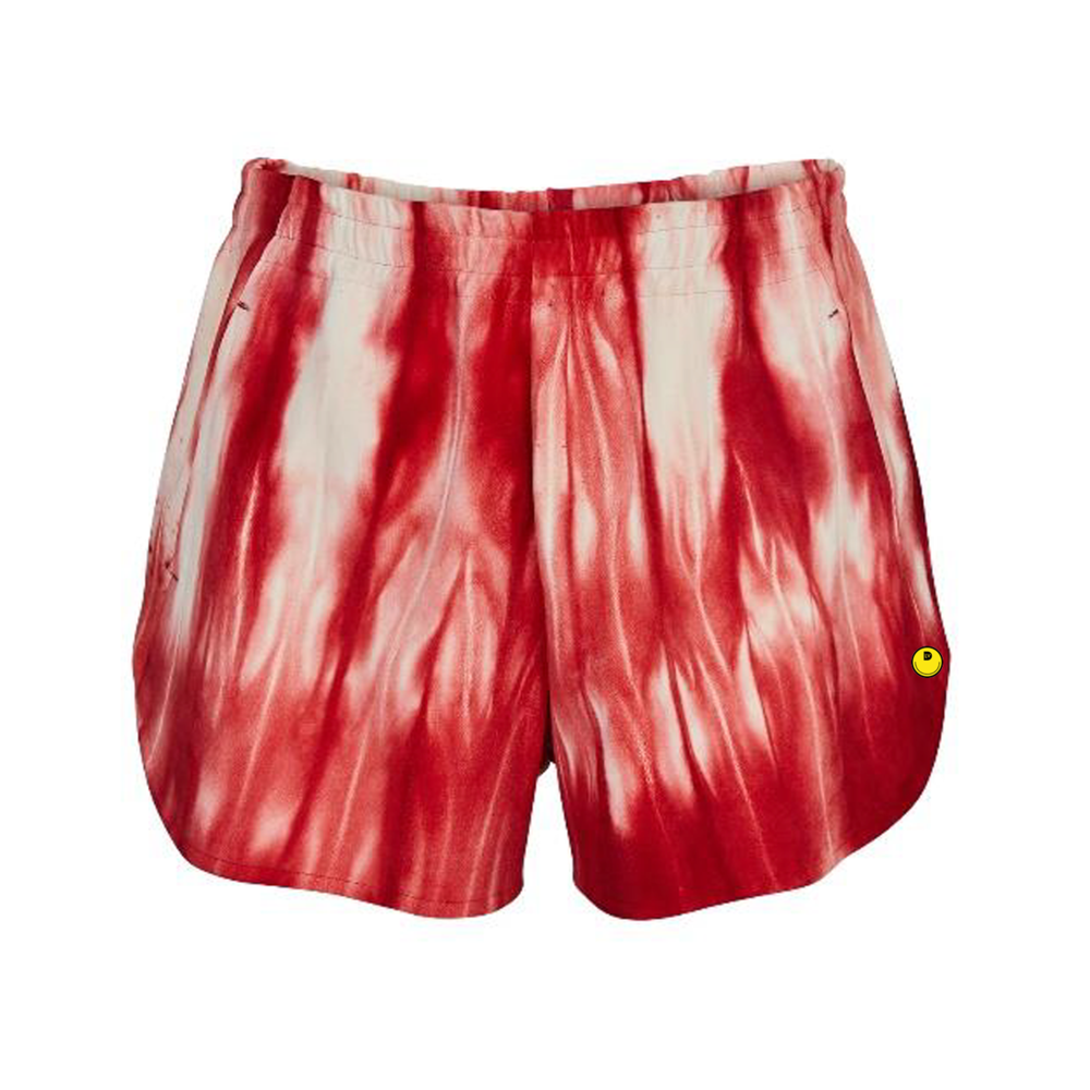 TIE AND DYE LEATHER SHORTS - €3100 $-ROUGE